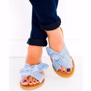 Shoes - JAXXY Slip on Sandals - Blue